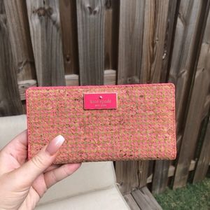 Kate Spade pink and cork wallet